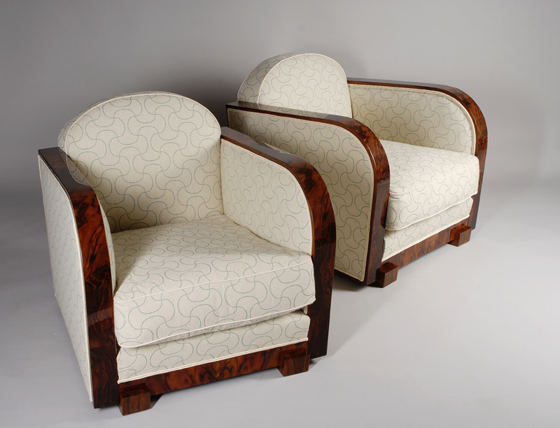 A Pair Of Art Deco Club Chairs By 2