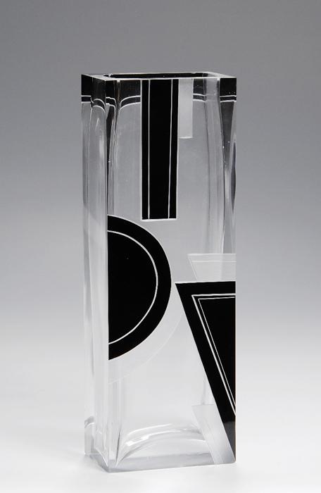 An art moderne vase iliad - Moderne glasvasen ...