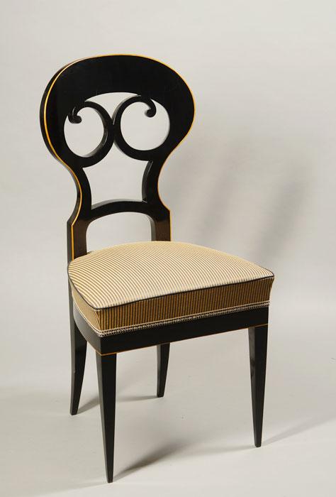 A Set Of Six Elegant Biedermeier Dining Chairs Iliad