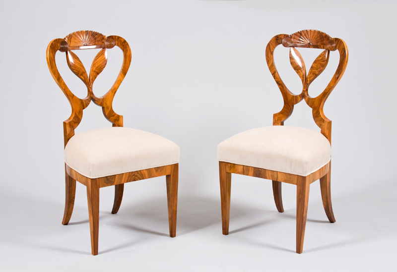 A Pair Of Two Exceptional Biedermeier Chairs Attributed To Josef Danhauser