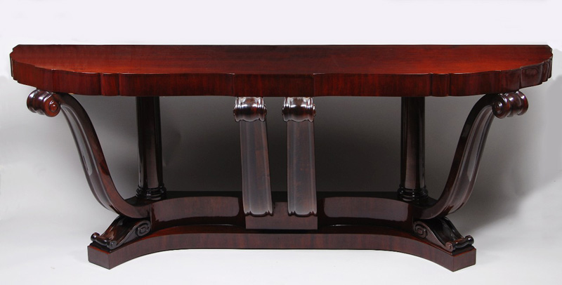 An Unusual And Large Art Deco Console Table After Sue Et Mare
