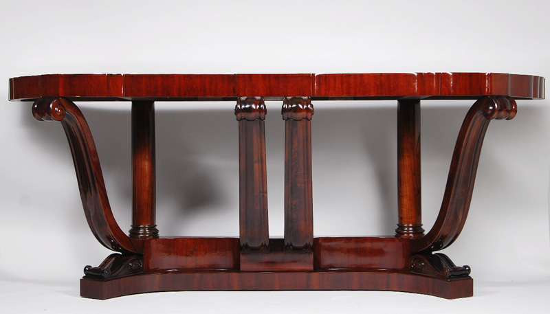 An unusual and large Art Deco console table after Sue et Mare Iliad