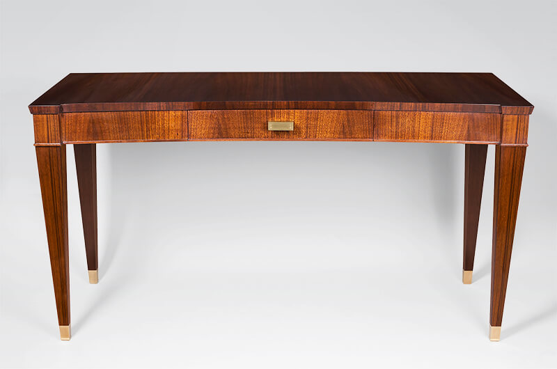 Art Deco Style Writing Desk With Drawer, Art Deco Style Writing Desk