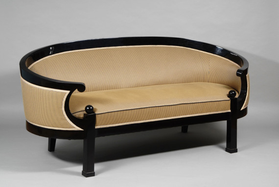 a very unusual biedermeier oval form elliptical sofa iliad. Black Bedroom Furniture Sets. Home Design Ideas