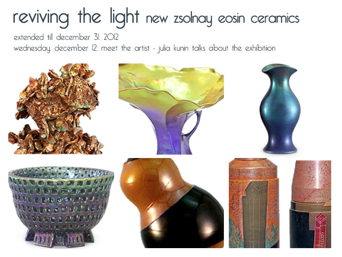 Reviving the Light: New Zsolnay Eosin Ceramics