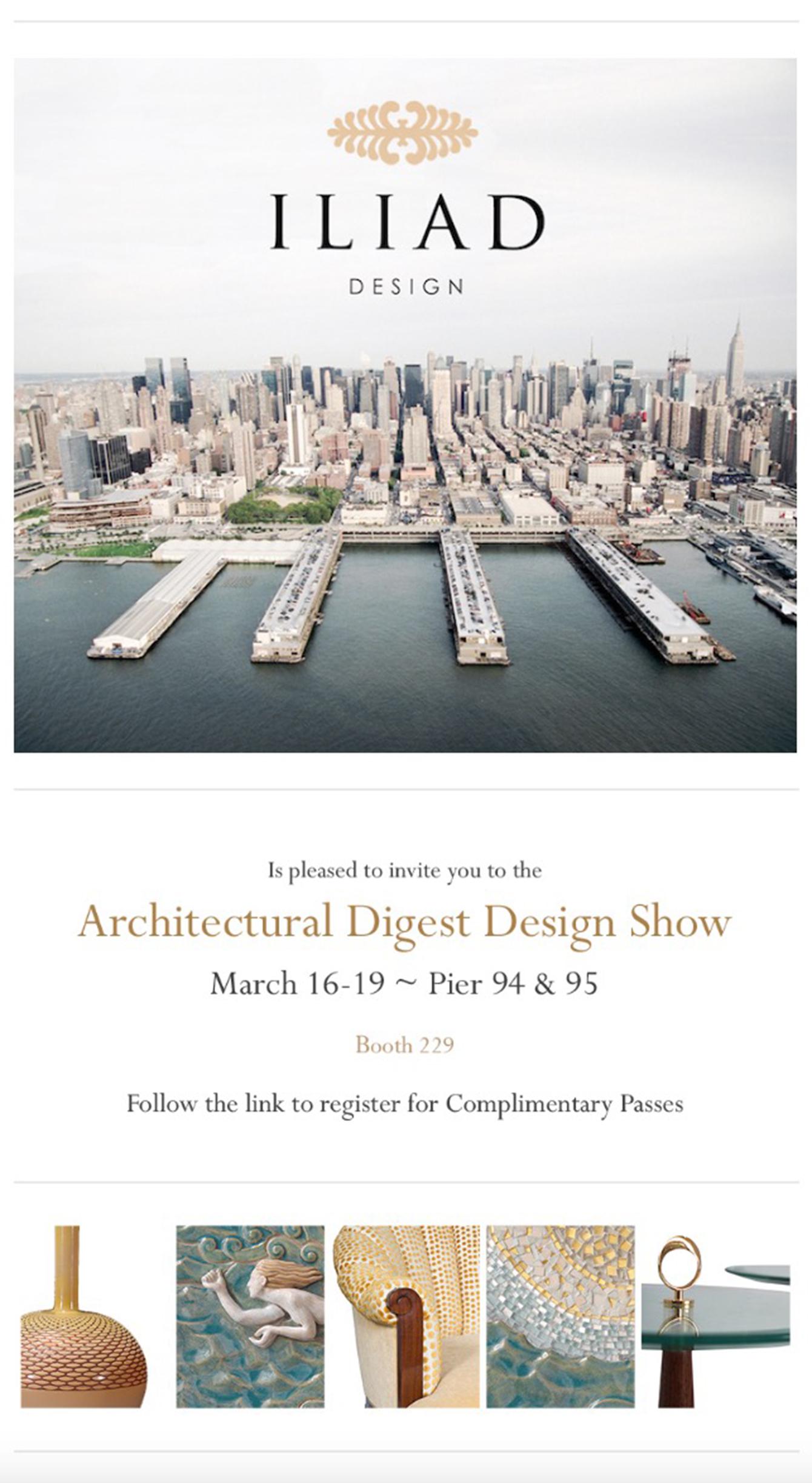 Architectural digest design show iliad for Architectural digest show